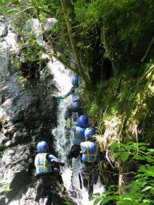 School Trips Wales: Gorge Walking