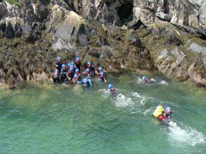 School Trips Wales: Coasteering